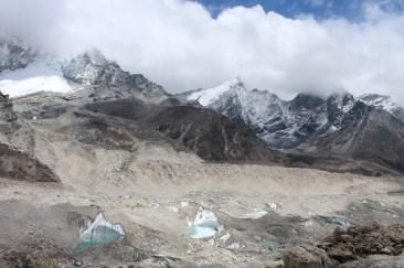 Rock-Covered Glacier Near Gorak Shep / Base Camp (Day 7)
