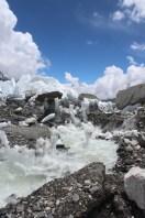 Surging Water From Melting Glacier at Base Camp