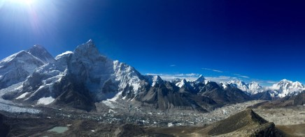 View from Kala Patthar (Everest is the Tall, Black Mountain in the Back on the Left Side)