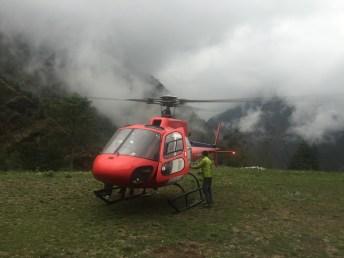 Landing at Surkhe (2 Hour Hike Below Lukla)