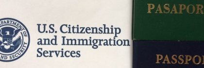 Letter from US Immigration and two passports