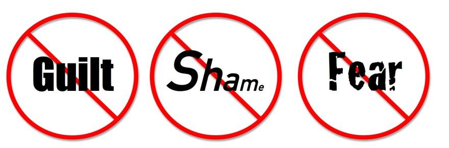 Symbols for no guilt, no shame, no fear