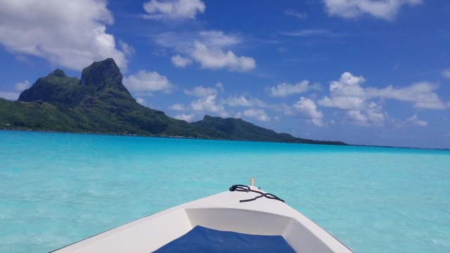 Dreaming of the enchanting waters of Bora Bora, or anywhere outside of my house.