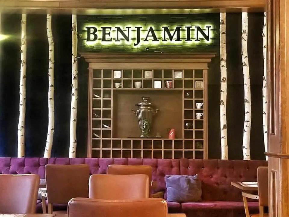 where to eat in sibiu - interior of benjamin's in sibiu