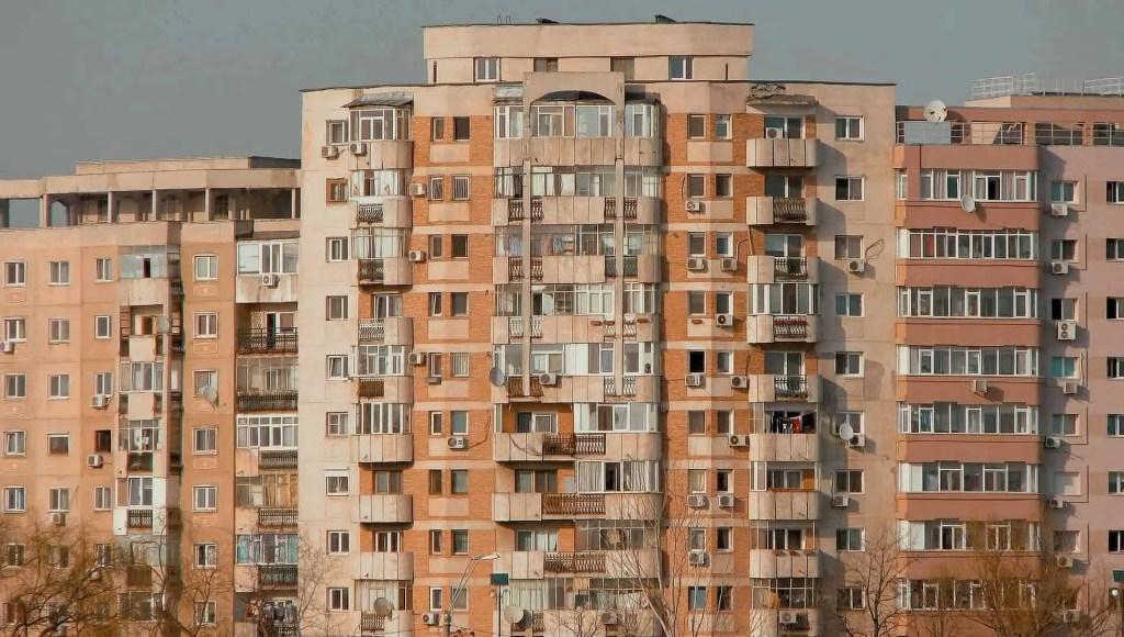 Bloc apartments, communist style in Bucharest, Romania