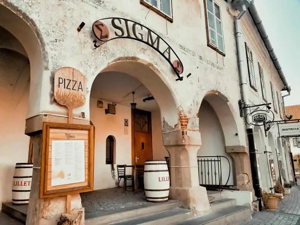 where to eat in sibiu - outer façade café einstein