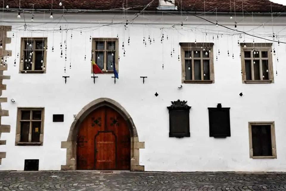 Matthias Corvinus House in PIata Muzeului in Cluj