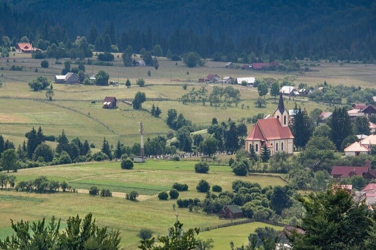 Overlooking the Calata region in Transylvania, an easy day trip from Cluj-Napoca.