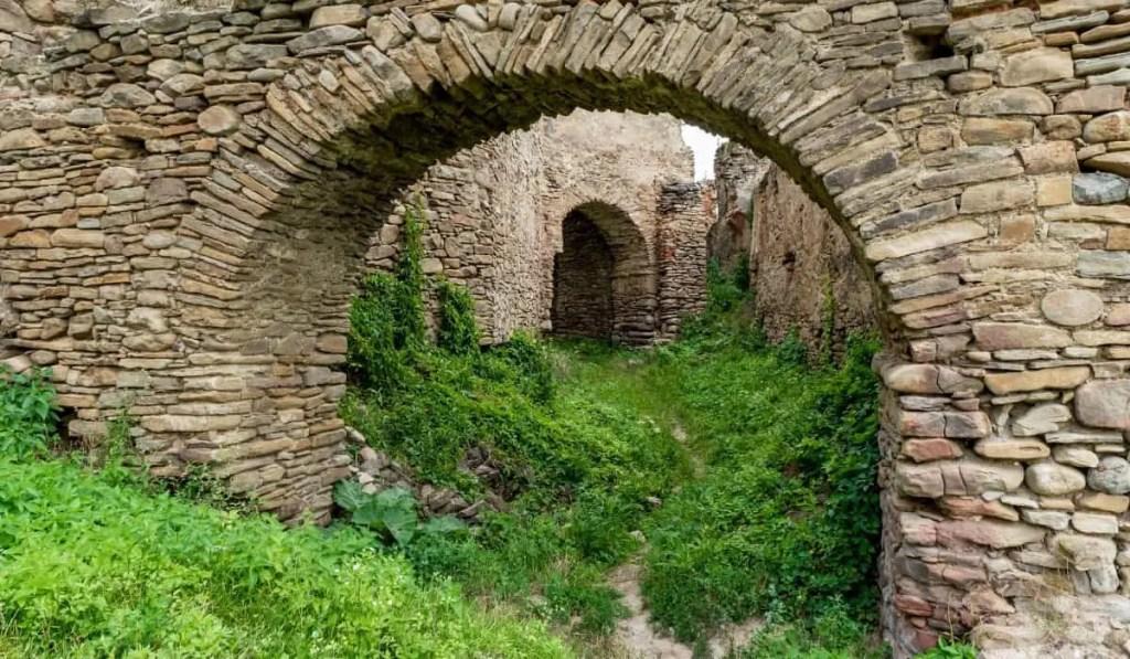 Ancient UNESCO Saschiz Citadel in Transylvania, Romania.
