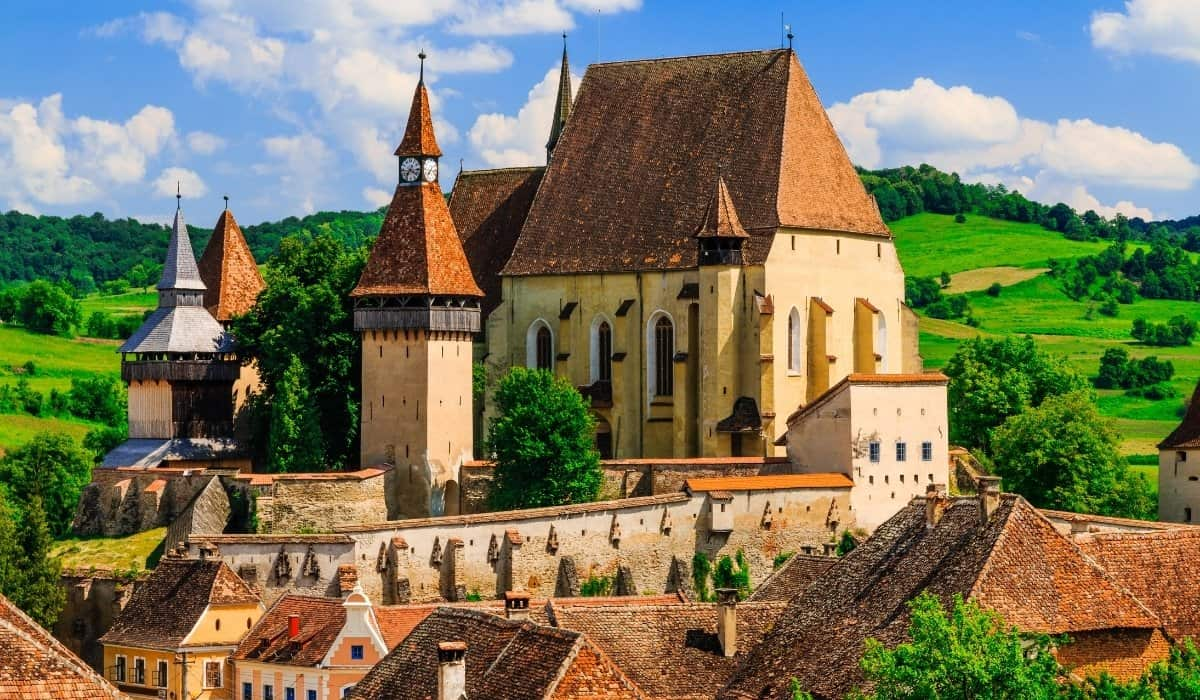 Fortified church of Biertan in Transylvania, one of the more popular fortified churches for tourists to visit.