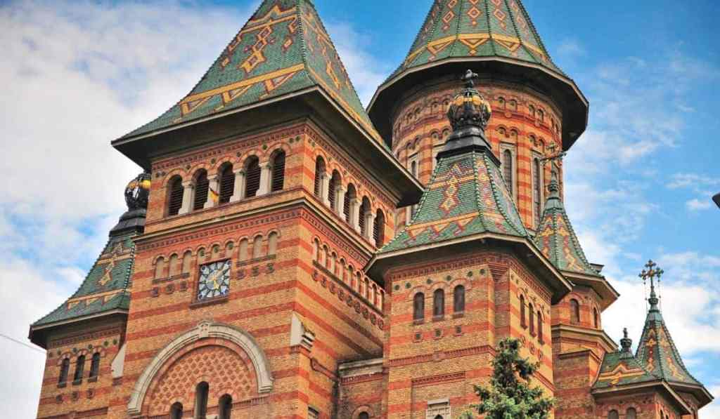 Ornate Orthodox Cathedral in Timisoara, Romania - one of the best things to do in Timisoara.