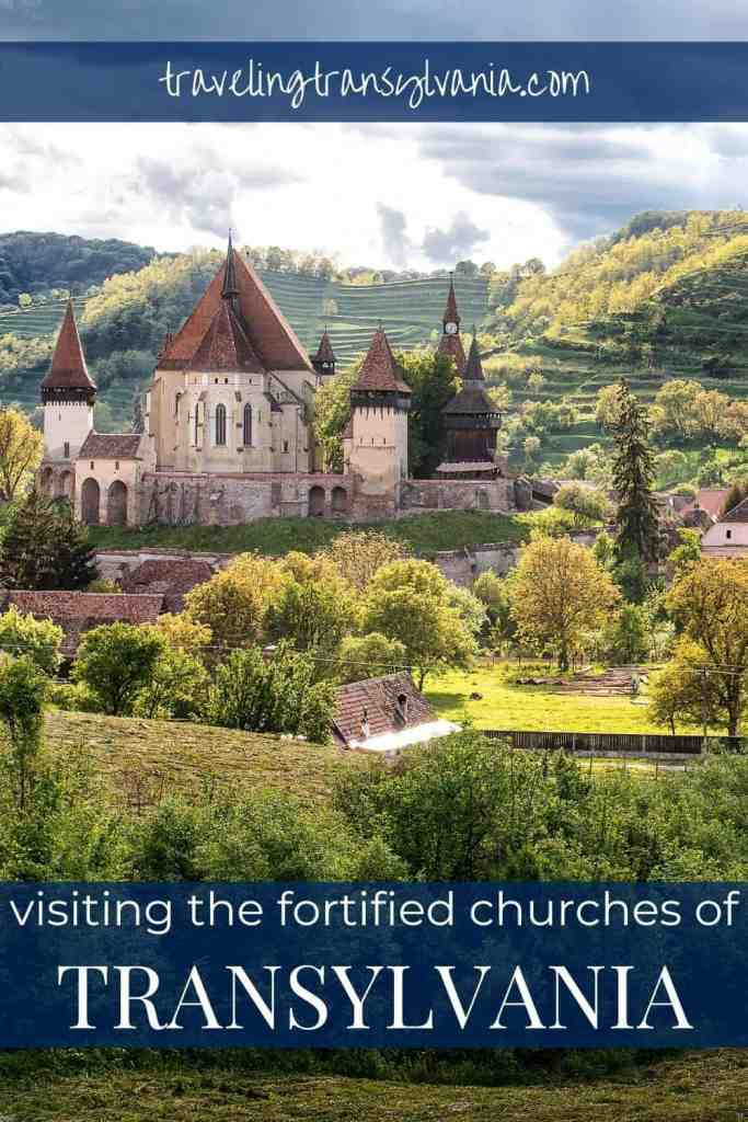 Pinterest graphic - Visiting the Fortified Churches of Transylvania