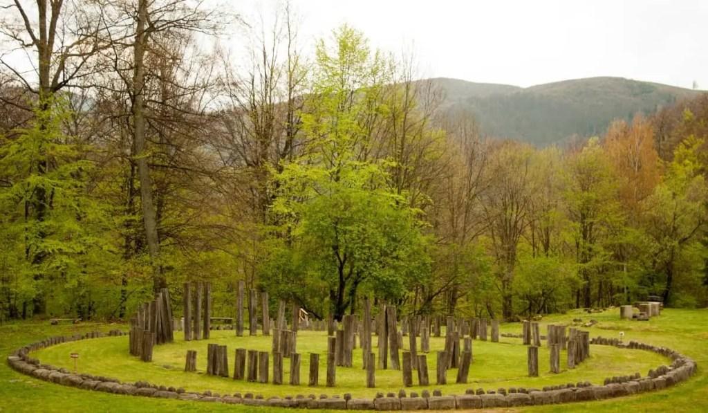 sarmizegetusa, the Romanian version of Stonehenge, a UNESCO World Heritage Site in Transylvania.