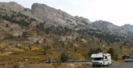 RV parked for our hike, Ruby Mountains, Nevada