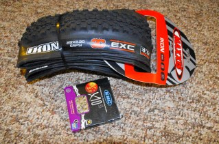 New tires and chain before the start. KMC seems to last twice as long as others. Maxxis Ikons haven't let me down yet.