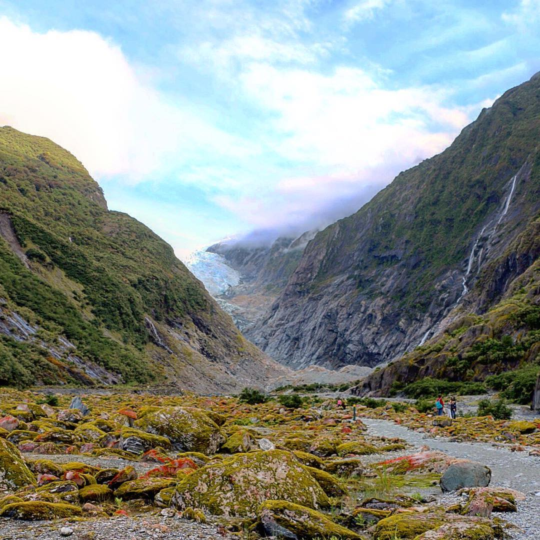 Entering into top 3 New Zealand moments Franz Josef Glacierhellip