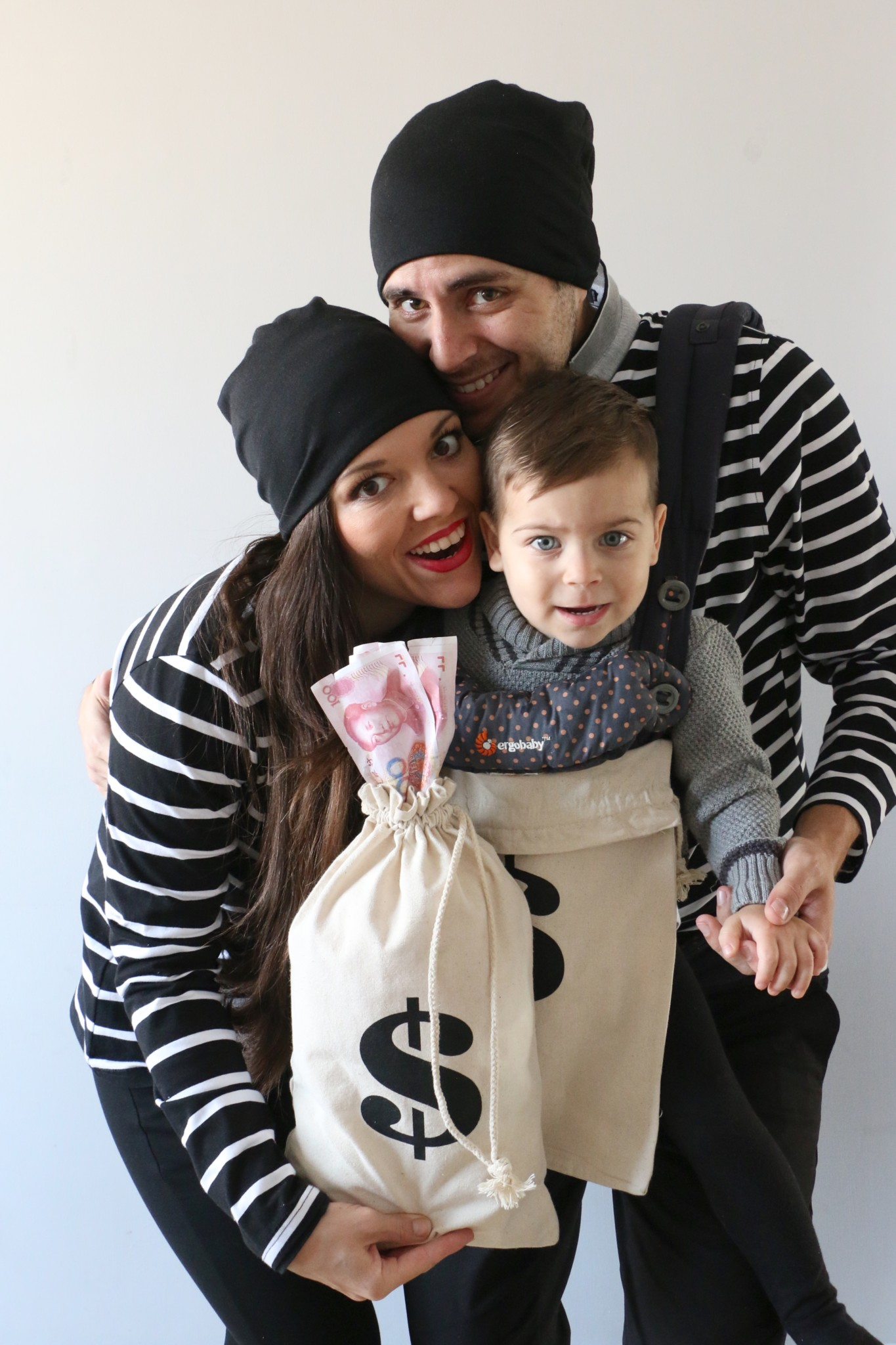 DIY Family Costume: Bank Robbers