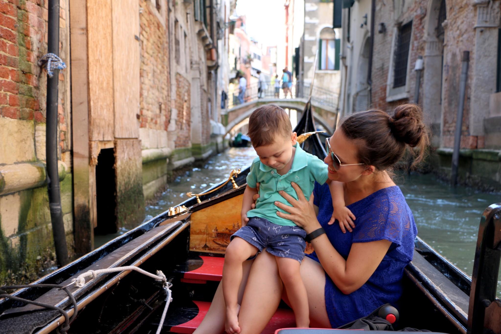 A Gondola Ride in Venice, Italy