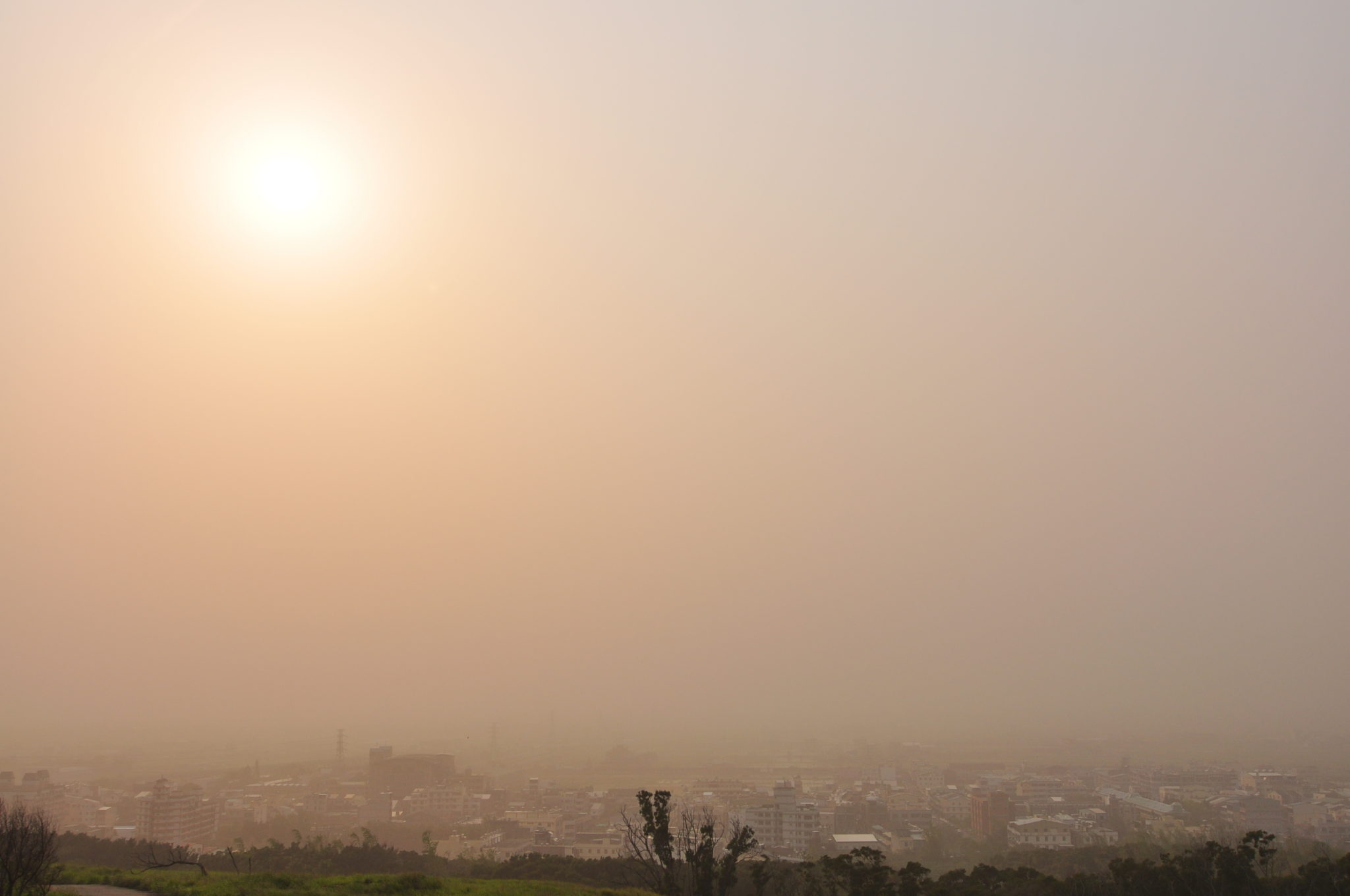 A Dust Storm Swallows Qingdao