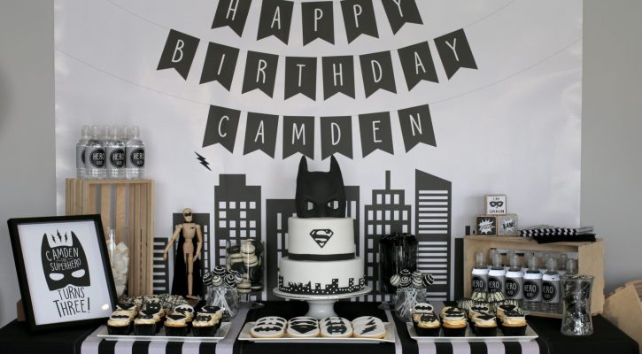 A Monochrome Superhero Party