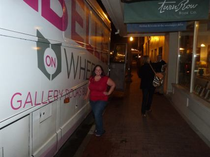 The BELLES ON WHEELS bus and Traveling With T