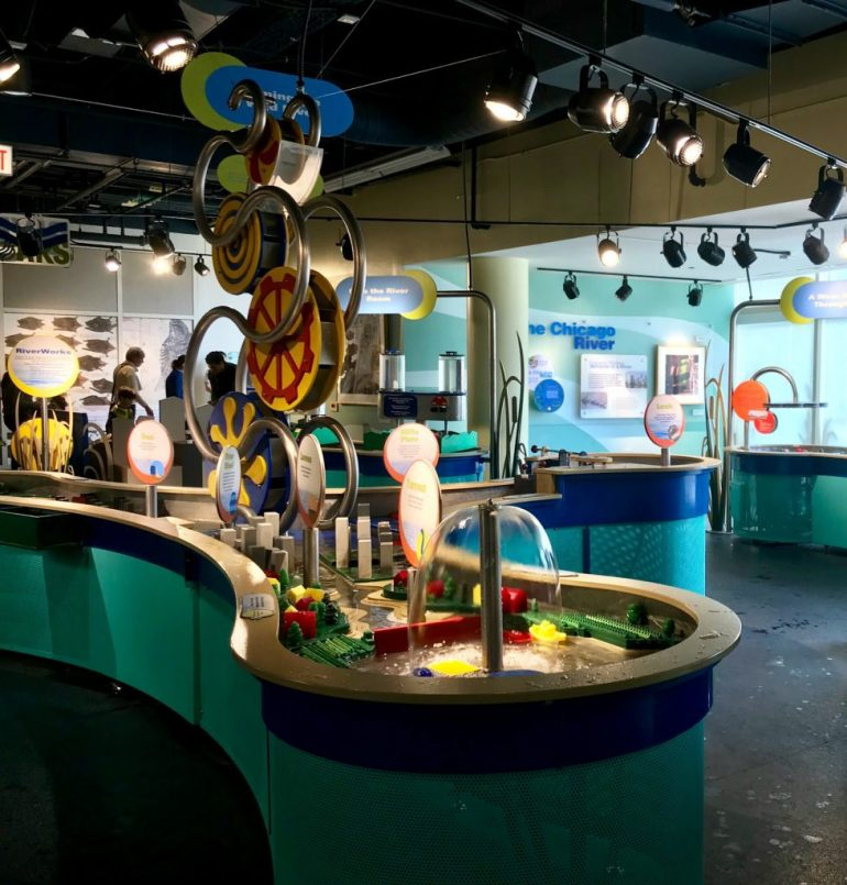 River Works exhibit at the Peggy Notebaert Nature Museum-things to do in Chicago with Kids