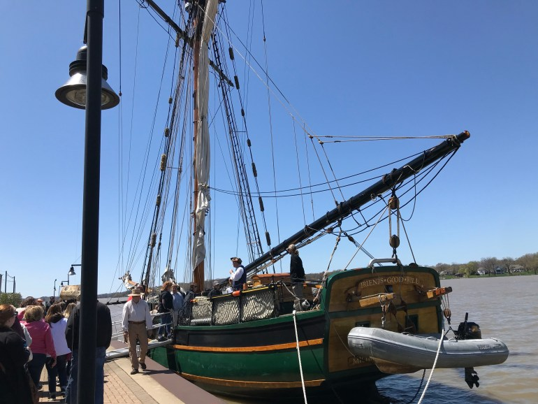 Tulip Time for families, Friends Good Will tall ship tour