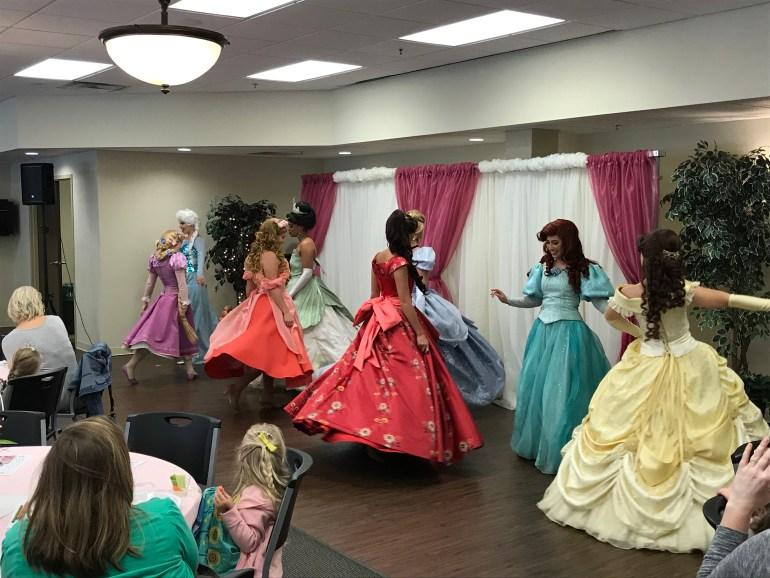 Tulip Time for families, Tulip Princess Tea Party, princess finale dance