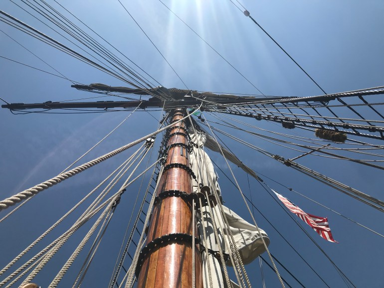 Tulip Time for families, Friends Good Will tall ship masts