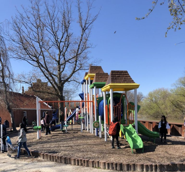 Tulip Time with Kids, Windmill Island Gardens playground