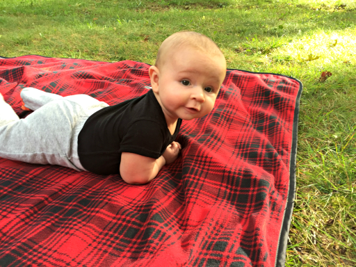 Baby hanging out at Big Meadows Lodge Campgrounds