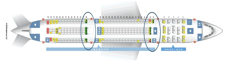 Flying Aer Lingus with a baby or toddler, Airbus-A330-200 bassinet seat locations