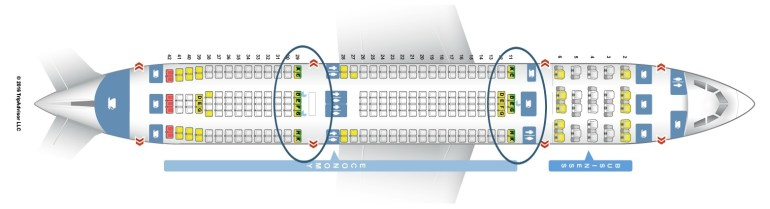 Flying Aer Lingus with a baby or toddler, Airbus-A330-200-B bassinet seat locations