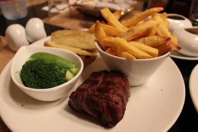 Rare Main Course Steak