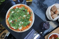 SUD Restaurant Dbayeh Goat Cheese Pizza
