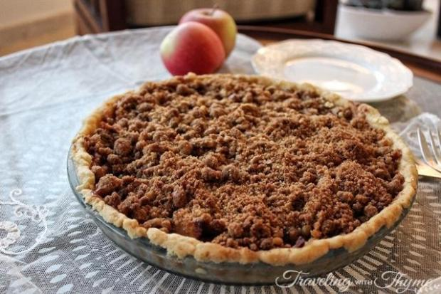 Apple Crumble Pie with Salted Caramel Recipe Whole