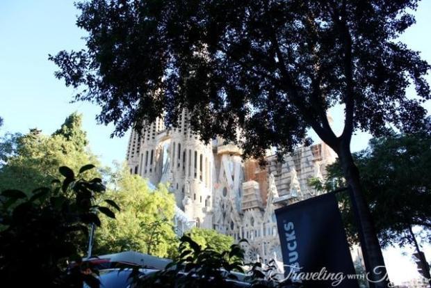 Starbucks Barcelona Breakfast view