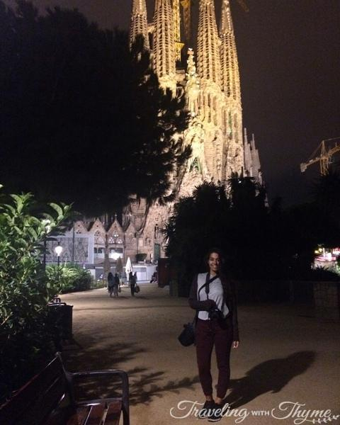 La Sagrada Familia at Night