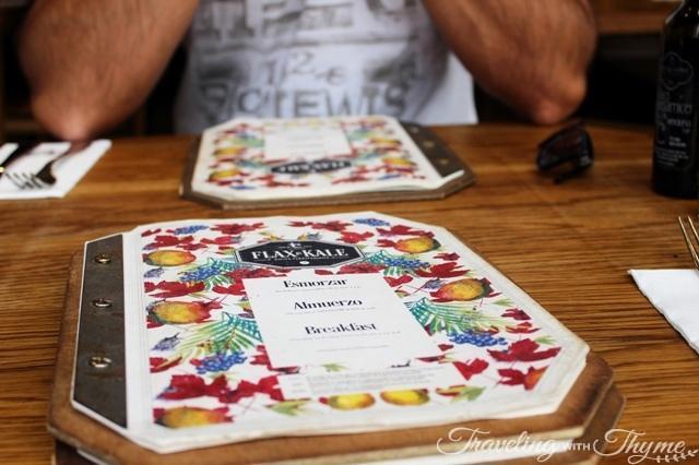 Flax and Kale Barcelona MENU