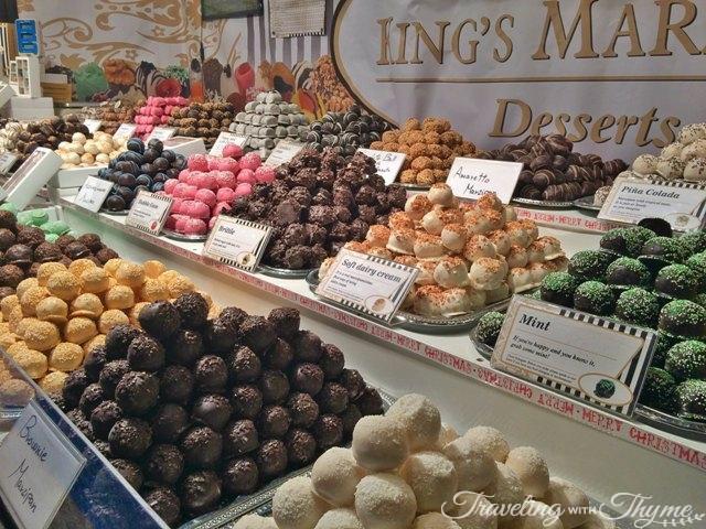 Edinburgh Christmas Market Chocolate Shop