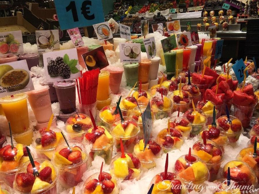 La Boqueria Market Barcelona Fruits Juice