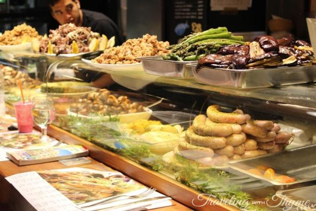 La Boqueria Market Barcelona Tapas Bar