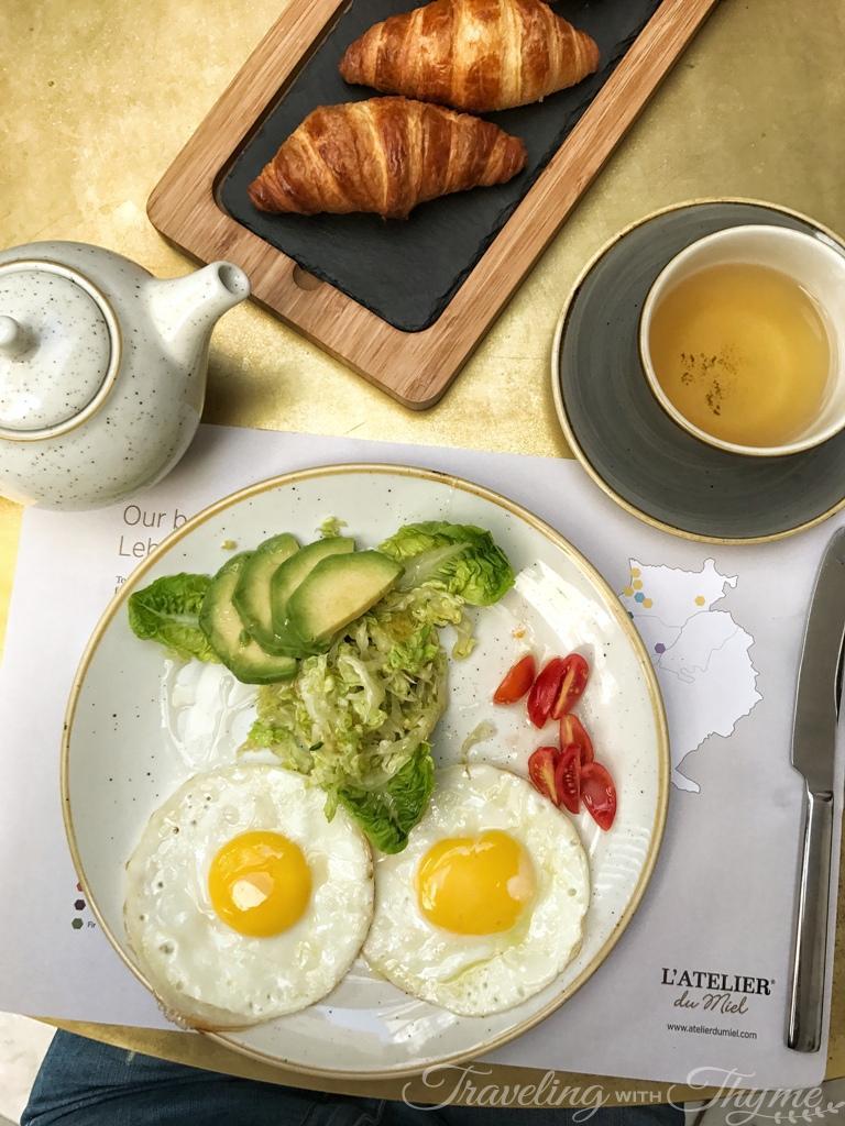 Atelier du Miel Breakfast Coffee Eggs