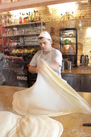 Athens Food Tour Bougatsa Krinos Pie