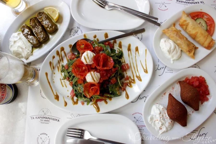 Karamanlidika tou Fani Restaurant Athens meze
