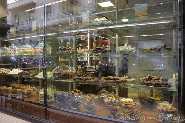 Aristokratikon Chocolate Athens Window Display