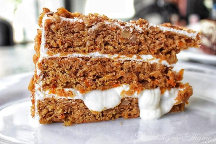 Sandwiched Diner Dessert Carrot Cake Light