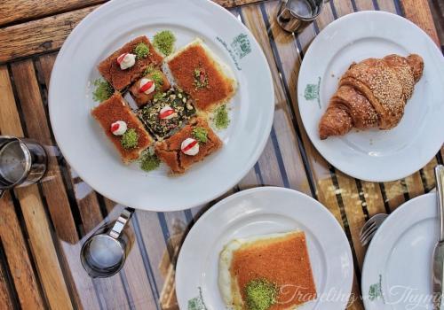 Hallab Tripoli Breakfast Knefe Lebanese Sweets