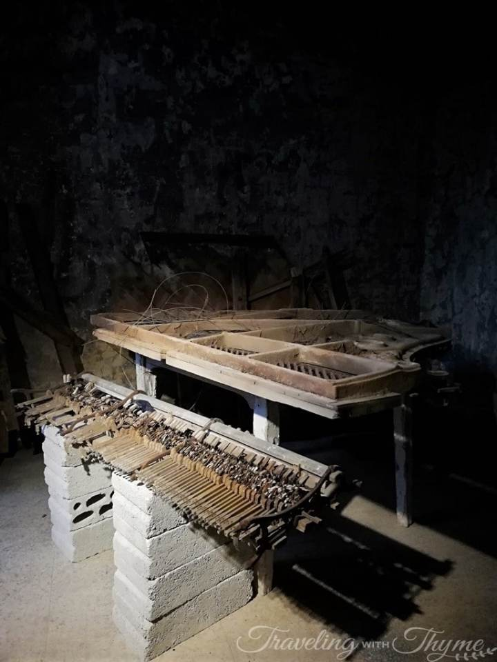 Old Piano Skeleton War Lebanon Hotel