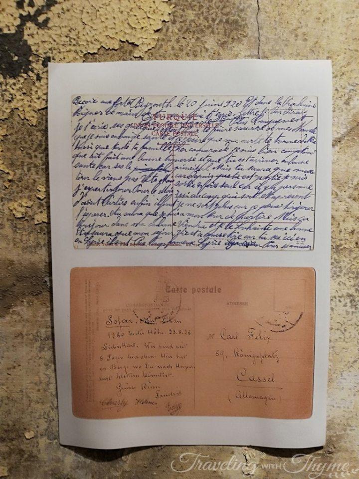 Grand Sofar Hotel Old Letters Postcard